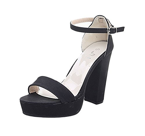 King Ma Women's Platform Chunky heels Dress Sandal