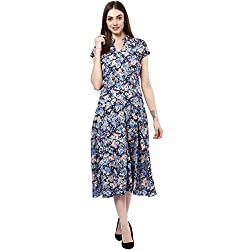 Bhama Couture Multicolor Floral print layered dress X-Small