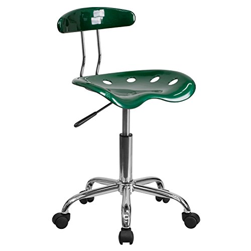 MFO Vibrant Green and Chrome Computer Task Chair with Tractor Seat