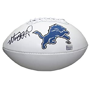 Matthew Stafford Autographed Detroit Lions Logo Football SC #10449 by Sports Collectibles