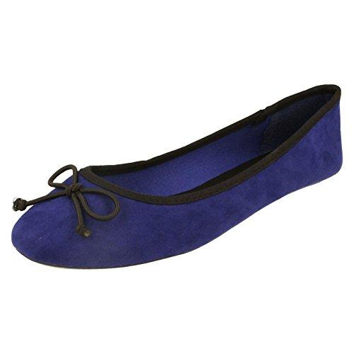 Spot On, Ballerine donna, Blu (blu), 37.5