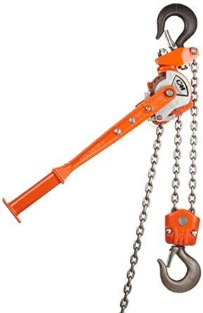 "CM 2302 Rigger Lever Operated Hoist, 15.375"" Lever, 1-1/2 ton Capacity, 5' Lift Height, 1-1/32"" Opening"