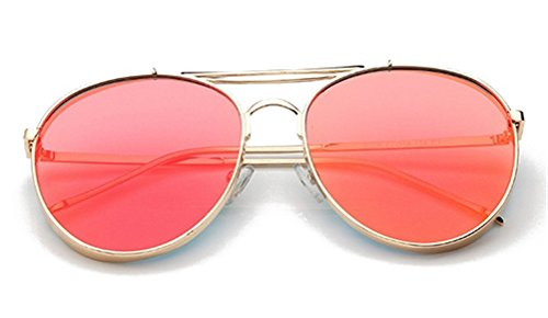 GAMT Classic Large Frame Sunglasses With Colored Lens UV400 Red (Red Circle Lenses compare prices)