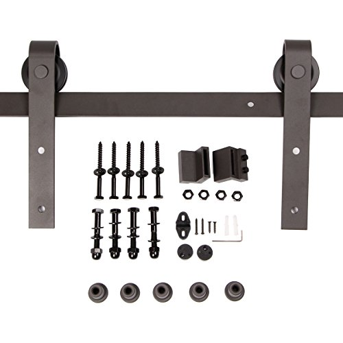 Umax 6.6 Ft Sliding Barn Wood Door Basic Sliding Track Hardware Kit (Barn Door Track Hardware compare prices)