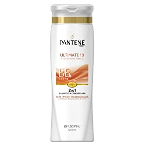 Pantene Pro-V 2 in 1 Shampoo & Conditioner, Ultimate 10 with BB Creme, 12.6 Ounce