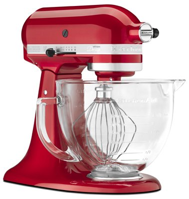 Kitchenaid, Artisan Series, 5 QT, Candy Apple Red, Stand Mixer