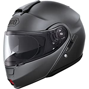 Shoei Solid Neotec Modular Motorcycle Helmet - Matte Deep Grey / Large from Shoei