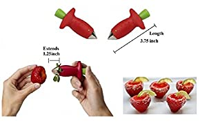 Bundle of 2 - Strawberry Top & Leaf Remover Cutters Kitchen Accessory Fruit Gift Set of 2 Tools Kit from the items of Richy-Rich Collection