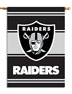 NFL Oakland Raiders 2-Sided 28-by-40-Inch House Banner by Fremont Die