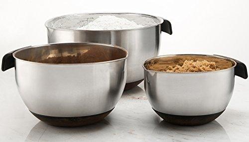 Sagler Set of 3 Stainless steel Mixing Bowls