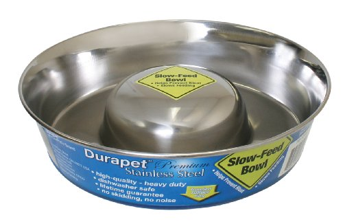 Ourpets Premium Durapet Slow Feed Dog Bowl Large front-964894