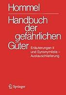 Handbuch der gef?ñhrlichen G??ter. Erl?ñuterungen II. Austauschlieferung, Dezember : Anhang 9