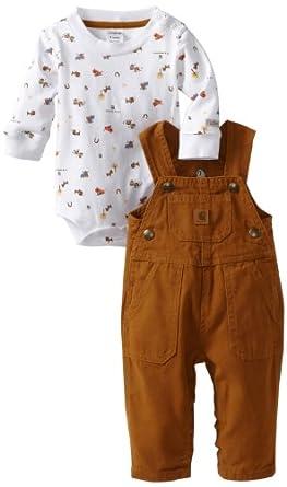 Amazon Carhartt Baby boys Infant Bib Adjustable Strap