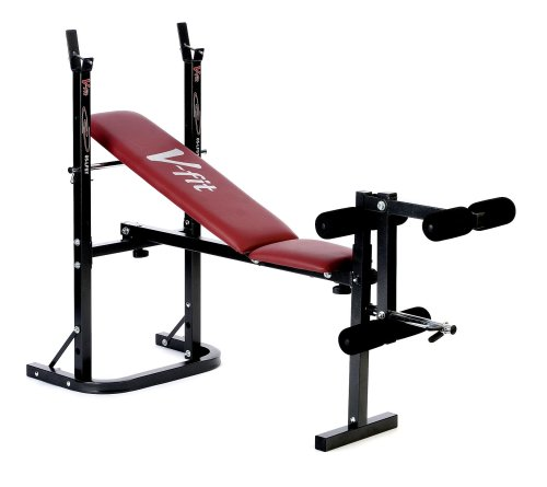 V-Fit Herculean Folding Weight Bench with Leg Unit 