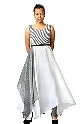 Manish Ahuja Designer Chiffon printed flared one piece dress