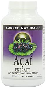 Source Naturals Acai Extract 500mg, 240 Capsules