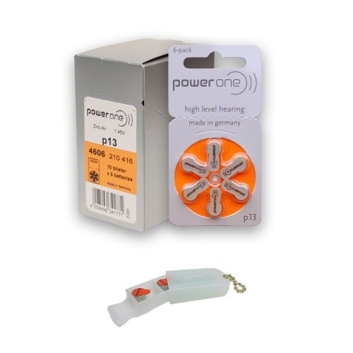 PowerOne Hearing Aid Batteries Size 13, PR48  + 2 Cell