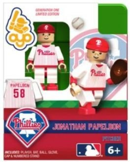 OYO Baseball MLB Building Brick Limited Edition Minifigure Jonathan Papelbon Philadelphia Phillies