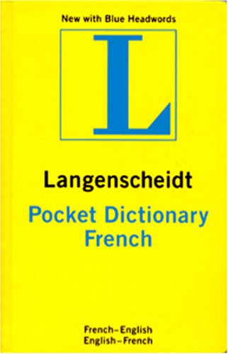 LANGENSCHEIDT-FRENCH-POCKET-DICTIONARY-Excellent-Condition