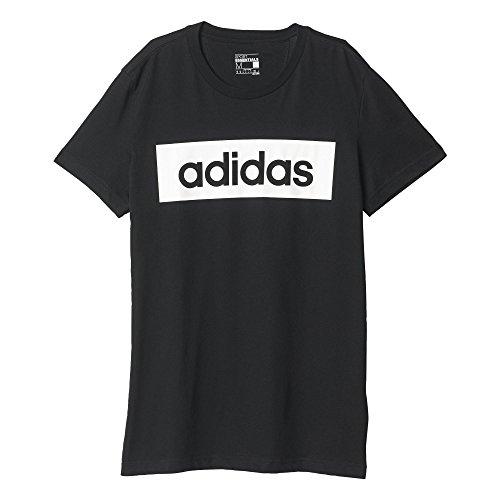 Adidas Lin Tee Maglia per Uomo, Nero/Bianco (Nero/Bianco), 2XL