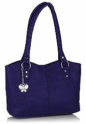Butterflies Women's Handbag (Dark Blue) (BNS 0377 DBL)