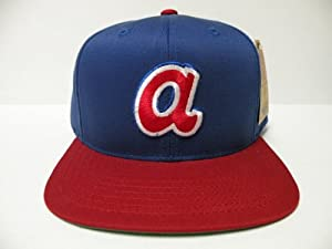 MLB Atlanta Braves Logo Royal 2 Tone Retro Snapback Cap by American Needle