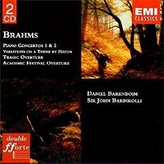 Brahms: Piano Concertos No. 1 & 2 - Tragic Overture, etc.. / Barenboim, Barbirolli
