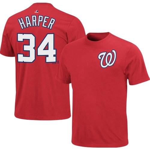 Bryce Harper Washington Nationals Youth Red Jersey Name and Number T-Shirt Medium at Amazon.com