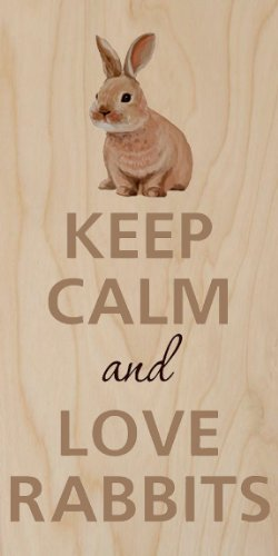 Keep Calm And Love Rabbits Small Bunny - Plywood Wood Print Poster Wall Art front-958968