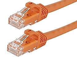 FLEXboot Series Cat6 24AWG UTP Ethernet Network Patch Cable, 20ft Orange