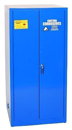 Eagle Acid/Corrosive Safety Cabinet, 2 Manual Doors, Steel, Blue