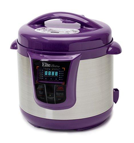 Elite Platinum EPC-808P Maxi-Matic 8 Quart Electric Pressure Cooker, Purple (Stainless Steel) (Pressure Cooker Plastic compare prices)