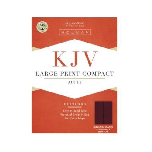 Large Print Compact Bible-KJV-Snap Flap