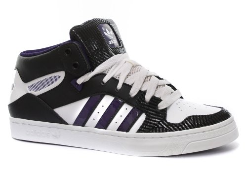 Adidas Originals M Attitude ST Mid Womens Trainers white / black / purple