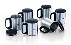 Pigeon - Stainless Steel Coffee Cup Set of 6 (With Lid)