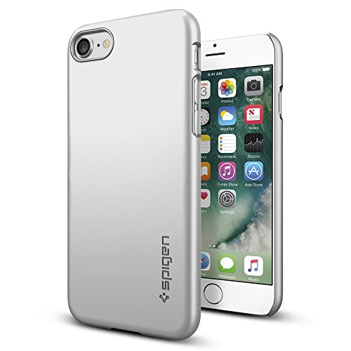 iPhone-7-Case-Spigen-Thin-Fit-Exact-Fit-Satin-Silver-Premium-Matte-Finish-Hard-Case-for-Apple-iPhone-7-042CS20733
