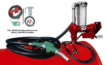 Fill-Rite FR4210GBFQ Hi-Flow Fuel Transfer Pump, Telescoping Suction Pipe, 20' Delivery Hose, Automatic Release Nozzle, Filter - 12 Volt, 20 GPM (Hi Flow Fuel Filter compare prices)