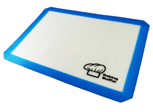 Silicone Baking Mat - For Lining Pastry Pans And Cake Pan - Non Stick Surface Sheet Makes Baking Easy - Large Half Sheet Baking Liner - Professional Grade & Fda Certified - Flexible & Oven Safe - Easy To Clean, Wash & Care For - Lifetime Guarantee