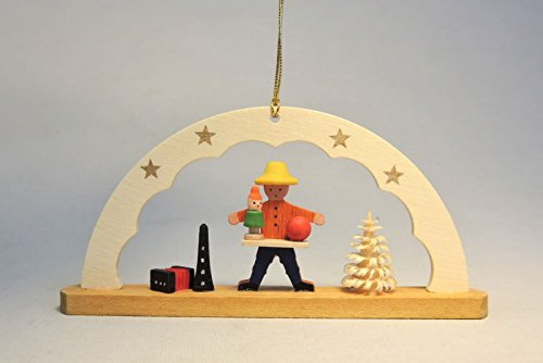 Baumbehang Schwibbogen Spielzeughändler 4,5 cm Christbaumschmuck Seiffen NEU