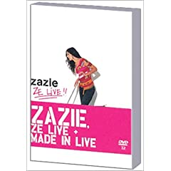 Coffret Zazie 2 DVD : Made in Live - Le Tour des anges / Ze Live - DVD