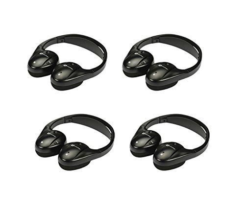 4) New Audiovox Ir1Cff Fold Flat Wireless Automotive Infrared Stereo Headphones