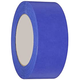"Nashua Crepe Paper Premium 14-Day Painter's Masking Tape, 3"" Core, 5.3 mil Thick, 55 m Length, 48 mm Width, Blue"