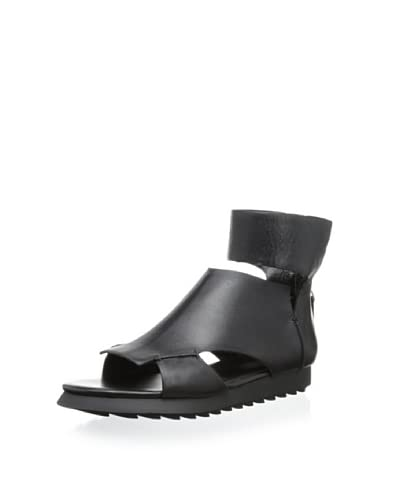 Camilla Skovgaard Women's SS13005 Flat Hex Collar Sandal  [Black]