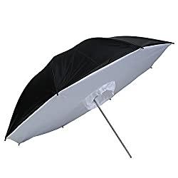 Andoer 33 inch / 83cm White Black Reflective Photo Studio Umbrella Softbox Umbrella Box