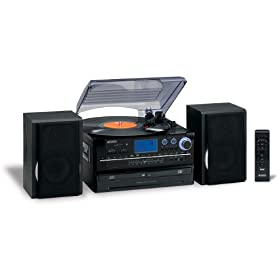 Reviews Jensen JTA980B J3-Speed Turntable with 2 CD, AM/FM