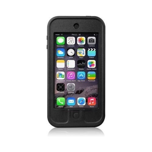 Black Redpepper Underwater Waterproof fingerprint Scanner Stand Shockproof SnowProof DirtProof Durable Full Sealed Protection Case Cover for Apple iPod Touch 5 5th 5G (Lifeproof Ipod 5 Case Inserts compare prices)