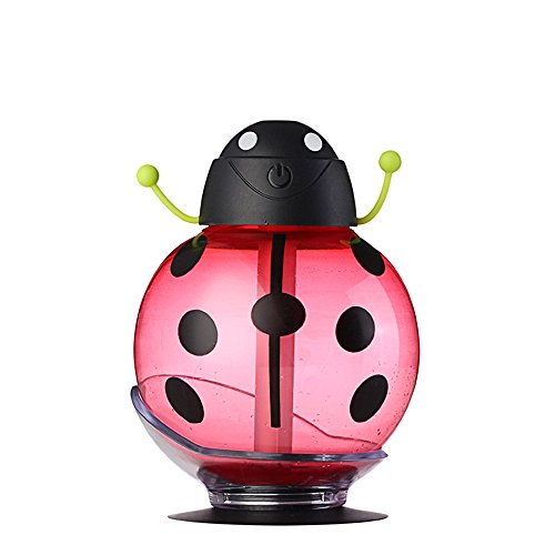 Senders Beatles Humidifier,Beatles Cool Mist Humidifier,LED USB Portable Air Diffuser Purifier Atomizer for Car Home Office (Red)