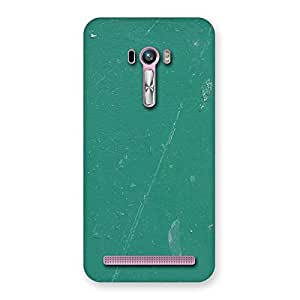 Green Paint Crack Designer Back Case Cover for Zenfone Selfie