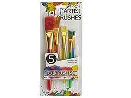 Artist Flat Paint Brush Set-Package Quantity,12