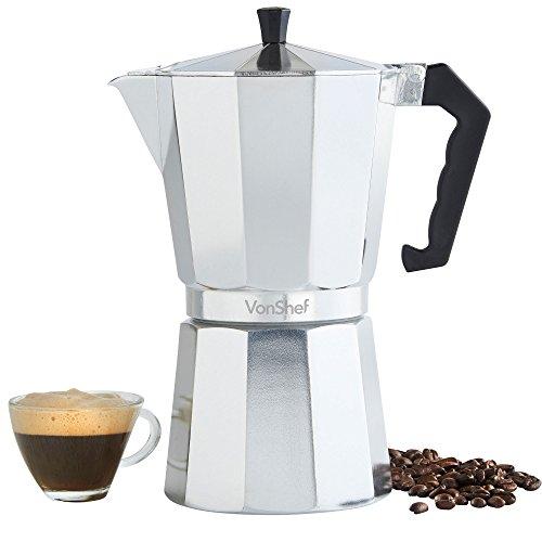 VonShef 12 Cup Italian Espresso Coffee Maker Stove Top Moka Macchinetta (12 Cup Espresso Coffee Maker compare prices)